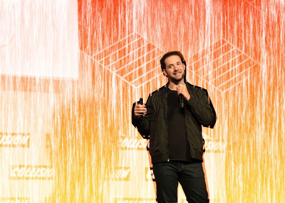 Photo of Alexis Ohanian taken 4 May 2017 on the Center Stage at Collision 2017 in New Orleans, Louisiana. Photo by Diarmuid Greene / Collision / Sportsfile.